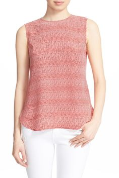'Lyle' Sleeveless Silk Print Top by Equipment on @nordstrom_rack