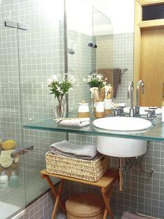 Encimera de cristal para baño
