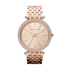 Michael Kors Watch, Women's Darci Gold Tone Stainless Steel Bracelet - All Watches - Jewelry & Watches - Macy's Michael Kors Rose, Outlet Michael Kors, Handbags Michael Kors, Armband Rosegold, Gold Armband, Stainless Steel Watch, Stainless Steel Bracelet, Gold Gold, Crystal Bracelets