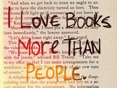 Love books. Hate people :D