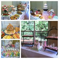 Baby Girl Shower in a French Garden theme with Birdhouses, Bird Cages and Pink Primrose