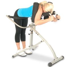 The Gentle Motion Standing Back Stretcher - Hammacher Schlemmer