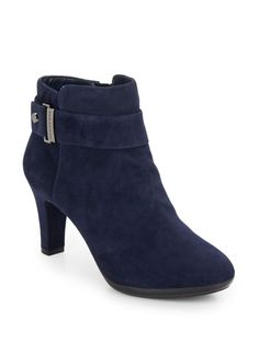 AK ANNE KLEIN, Sernio Suede Booties, was $129.00, now $54.99-79.99 From Saks Off 5th
