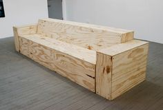Tim Bouckley Plywood Sofa ~ DIY