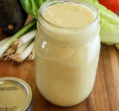 Perfect Creamy Caesar Dressing Recipe 2 tbsp mayo 2 tsp Dijon mustard 2 lg garlic cloves, pressed C lemon juice (about 3 lemons) 1 tsp salt tsp freshly ground black pepper 1 cups mild olive oil cup shredded Parmesan cheese Combine in food . Do It Yourself Food, Salad Dressing Recipes, Caesar Dressing Recipe No Anchovies, Eggless Caesar Dressing Recipe, Creamy Caesar Salad Dressing Recipe, Ceaser Salad Recipe, Mayo Salad Dressing, Healthy Caesar Salad, Ranch Dressing