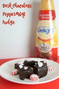 Dark Chocolate Peppermint Fudge #DelightfulMoments #Ad @Walmart