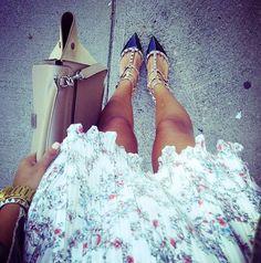 Insta-jules ( Floral Dresses & Heels & Wedges )