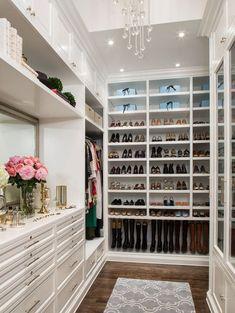 organized closet Love the shoe wall.