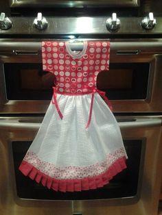 Cute Hanging Dish Towel Dress Pattern Kitchen Towels