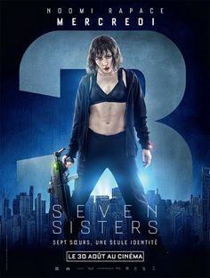 Noomi Rapace vuelve a ser protagonista en los 3 nuevos carteles de Sevens Sisters, filme de ciencia ficción que dirige Tommy Wirkola, responsable de Z...