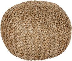 Bermuda Solid Neutral Sphere Pouf