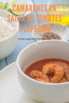 Camarones en Salsa de Tomates y Especias/ Sagrario Matos Latest Recipe, Chili, Soup, Recipes, Gastronomia, Ecuadorian Recipes, Dominican Recipes, Cuban Recipes, Argentinian Recipes