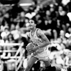 Black and white photo of University of Oregon basketball player Frank Johnson with the ball during a 1987 game. ©University of Oregon Libraries - Special Collections and University Archives Basketball History, Basketball Players, Frank Johnson, University Of Oregon, Libraries, Tank Man, Collections, Black And White, Game