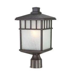 16-1/2-Inch Mission Outdoor Post Light | 9116-34 | Destination Lighting