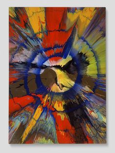 Beautiful teenage angst, mid-life crisis painting, 2005 by Damien Hirst