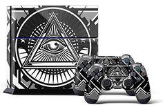 PS4 Console DesignerSkin for Sony PlayStation 4 System plus Two2 Decals for PS4 Dualshock Controller  Conspiracy * Want to know more, click on the image.Note:It is affiliate link to Amazon.