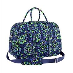 Nwt Vera Bradley Indigo Pop Grand Traveler