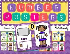 Ten Frames: This set of number posters are a great addition to your math centers, bulletin boards or math walls. Each of these wonderful kid-friendly themed posters show the following:Cookies on a cookie sheet for counting Ten Frames 0 to 10Number namesTally sticks (which is a great visual before the idea of tally marks)Finger picturesDi representations  2015 Nicole HernandezA Teacher's Idea