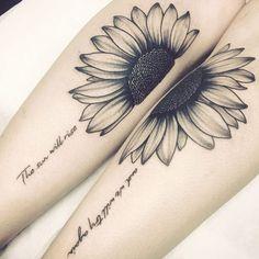 creative sunflower tattoo by Fat Panda Tattoo - KickAss Things creative sunflow. - creative sunflower tattoo by Fat Panda Tattoo – KickAss Things creative sunflower tattoo by Fat - Bff Tattoos, Couple Tattoos, Body Art Tattoos, Small Tattoos, Sleeve Tattoos, Tatoos, Tattoo Quotes, Cross Tattoos, Feather Tattoos
