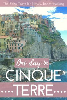 Cinque Terre is one of the perfect things to do near Florence! Just a day trip from the Italian City Florence, Cinque Terre is part of the Italian Riviera and filled with Italian Beaches and famous hikes, including the Via Del'Amore. Swim in the Adriatic Sea or climb to the top of the hill and munch on fried calamari. Italy has something for everyone **Things to do in florence| places to see in italy| Italy Itinerary | Italian vacation #italy #traveltips #cinqueterre #themed