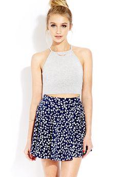 Dainty Daze Skater Skirt | FOREVER21 Femme florals! #SkaterSkirt #Spring #MustHave