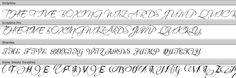 Swirly Fonts Swirly Fonts, Silhouette
