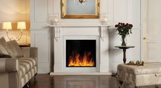 Riva2 Electric Inset 70 Stone Mantel - Gazco Fires