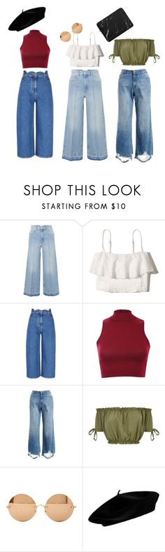 """""""Triplets"""" by dreamerk ❤ liked on Polyvore featuring Étoile Isabel Marant, Hollister Co., Valentino, Pilot, DL1961 Premium Denim and Victoria Beckham"""