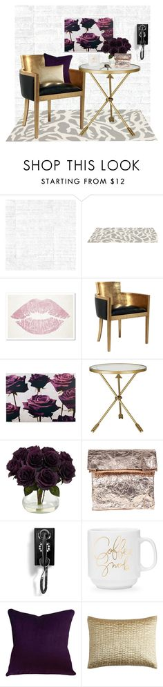 """""""Purple rose gold"""" by britt-catlynne-weatherall ❤ liked on Polyvore featuring interior, interiors, interior design, home, home decor, interior decorating, Osborne & Little, Somerset Bay, Oliver Gal Artist Co. and Graham & Brown"""