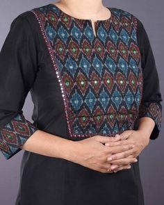 Neck Designs For Suits, Dress Neck Designs, Designs For Dresses, Blouse Designs, Simple Kurti Designs, Salwar Designs, Kurta Designs Women, Kurta Patterns, Kurti Embroidery Design