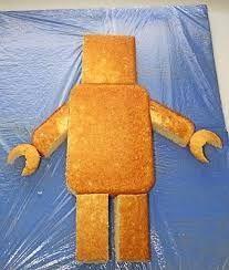 Lego Man or Robot cake. I've already done a robot cake, but I'm sure Ryan would love a lego man cake! Ninjago Party, Lego Birthday Party, Boy Birthday, Birthday Desserts, Cake Birthday, Birthday Ideas, Lego Themed Party, Batman Birthday, Birthday Decorations