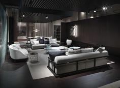#Flexform MOOD ICARO #sofa #design Roberto Lazzeroni. Round Sofa, Ottoman Sofa, Cabinet Makers, Sofa Design, Contemporary Furniture, Furniture Making, Seat Cushions, Bookshelves, New Homes