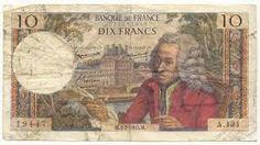 Un billet de 10 francs en 1965