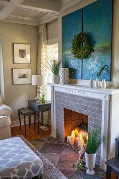 Michelle - Blog #Faux Fireplace