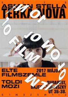 """gdbot:  """"thispopshitpop:  poster for ELTE FILM FESTIVAL Budapest http://ift.tt/2o6XlIb  """""""