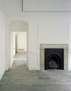 :: Havens South Designs :: loves the simple grace of the floors and moldings of this old home.