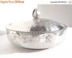 SALE  SPRING Hand Hammered Aluminum by AgedwithGraceVintage