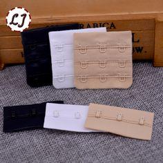 10pcs/lot Ladies Useful Bra black white Extenders Strap Extension 3 Hooks 3 Rows Adjustable Belt Buckle button accessories DIY