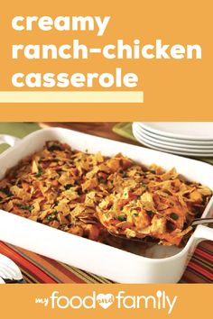 Want an easy, creamy, cheesy casserole that will please the whole family? Chop up some of that leftover chicken and let's get started! Crockpot Recipes, Chicken Recipes, Cooking Recipes, Healthy Recipes, Ranch Chicken Casserole, Chicken Soup, Butter Chicken, Garlic Butter, Mexican Food Recipes