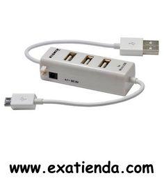 Ya disponible Hub Kloner 3 ptos + cargador USB blackberry,htc,Samsung,LG  (por sólo 12.95 € IVA incluído):   - Cargador USB + HUB para Blackberry, HTC, Samsung, LG  - Interfaz: USB 2.0 3 puertos USB HI-Speed - Velocidad de trasmisión de hasta: 480Mbps Hasta 500mA por cada Puerto - PlugandPlay - Carga y sincroniza tus dispositivos - Compatibles con: Windows 98E/2000/ME/XP/Vista/W7/W8 y MAC  - P/N: KCH32 Garantía de 24 meses.  http://www.exabyteinformatica.com/tienda/3159