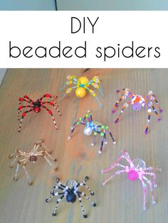 How to make beaded spiders With some beads and jewelry wire you can easily make these beautiful beaded spiders. : How to make beaded spiders With some beads and jewelry wire you can easily make these beautiful beaded spiders. Beaded Crafts, Beaded Ornaments, Wire Crafts, Jewelry Crafts, Bead Jewelry, Decor Crafts, Jewelry Ideas, Jewelry Accessories, Jewelry Design