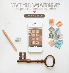 Create Your Own Wedding App With Appy Couple...pretty cool!