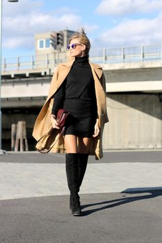black & camel. Tine in Stockholm. #TheFashionEaters