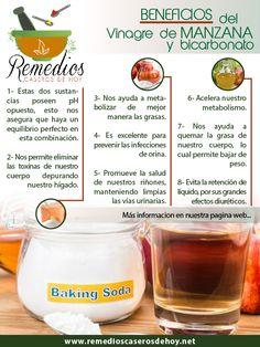 Conoce los beneficios del Vinagre de Manzana con bicarbonato.