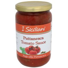 Puttanesca Tomato Sauce - This is created using a selection of the very finest ingredients to satisfy the expectations of consumers who love the delicate taste of the Mediterranean traditions. Puttanesca Tomato Sauce is perfect for the gourmet taste bud as it provides a rich blend of flavors equivalent to that of home made pasta sauce. The unique mix of ingredients of tomatoes, olives, extra virgin olive oil, anchovies, wine, capers, carrots, and salt is sure to compliment a pasta based…