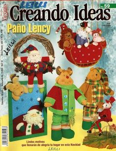 Colección de revistas de manualidades : Revistas Creando Ideas gratis Christmas Books, Christmas Diy, Xmas, Origami, Book Crafts, Craft Books, Softies, Free Books, Family Guy