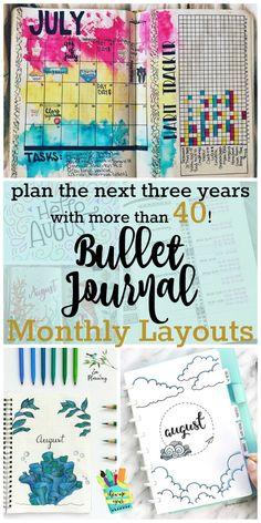 The Bullet Journal Monthly Spread is a necessity for staying organized. I've compiled 40! bullet journal monthly layouts to keep you inspired for months!