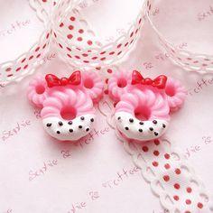 Kawaii Cabochons Decoden Sweets Deco Mickey Mouse Lolita Doughnut (4pcs) CAS391.
