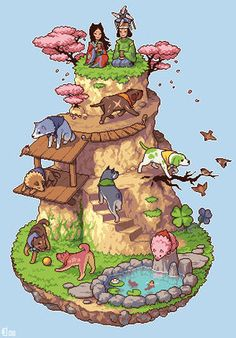 Fan Art of Canine Warriors for fans of Okami Amaterasu 15492874 Cool Pixel Art, Chibi, Isometric Art, Pixel Art Games, Amaterasu, Video Game Art, Art Tutorials, Cute Art, Art Inspo