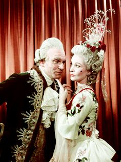 Laurence Olivier and Vivien Leigh in costumes designed by Cecil Beaton for The School for Scandal, 1949